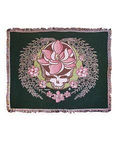 Look what I found on #zulily! Grateful Dead Green Sugar Magnolia Stealie Woven Blanket #zulilyfinds