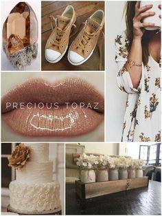 Precious Topaz LipSense. A warm shimmery brown. Order today! @charmcitylipswithjess SeneGence Distributor #341275