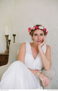 A simple class wedding dress for the modern bride | Photograph by Trois Studios Photographie | A Family Affair in the French Countryside | Real weddings