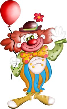 """Photo from album """"клипарт клоуны"""" on Yandex. Circus Clown, Circus Theme, Clown Images, Clown Crafts, Clown Party, Clown Tattoo, My Little Nieces, Images Vintage, Send In The Clowns"""