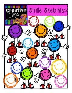 What is a tot? Well, it is tiny and smiley and shaped like a dot! It's a tot! These tots are bright and colorful and perfect for any resource. Also, you will get sketchy smiles that coordinate perfectly with the tots! Included in this set are 16 vibrant, color images and 2 black and white versions. $