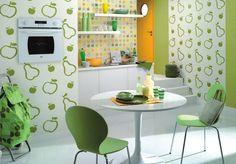 3 modelos de papel pintado para cocinas - https://decoracion2.com/papel-pintado-para-cocinas-3/ #Diseños_Vintage_Para_La_Cocina, #Papel_Pintado_Vinílico, #Revestimiento_De_Paredes