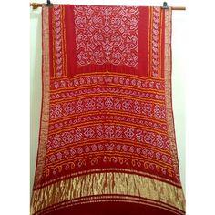 Red Gajji silk Bandhani saree Bandhani Saree, Fashion Books, Desi, Bohemian Rug, Indian, Silk, Sarees, Stuff To Buy, Women