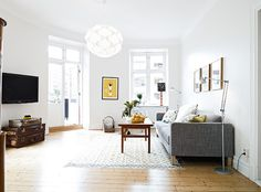 Beautiful light! so lovely to have french doors from living room... my scandinavian home: A cute Swedish family apartment