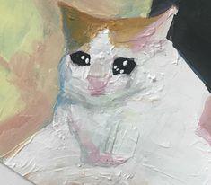 El arte perfecto no exist. Sad Cat, Cute Memes, Pretty Art, Aesthetic Art, Oeuvre D'art, Cute Drawings, Cat Art, Art Inspo, Art Reference