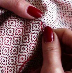 Great little video of sashiko stitching \/ liubov21.03.76_ on instagram