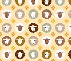 lamb heart fabric by heleenvanbuul on Spoonflower - custom fabric