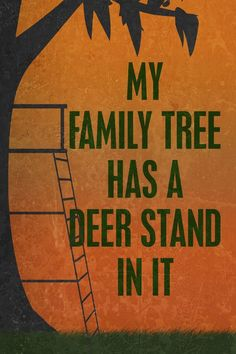 If you're into hunting and want some decoration, this sign is perfect for you! A sign that supports you and your family's love for the the activity! A golden sunset background with a tree stand illust