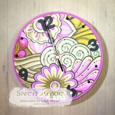 Designed by Lisa West using Colorista A4 Floral Pad and coloured with Spectrum Noir Colorista Marker Pen Set 4 and Set 5   #spectrumnoir #handmadecard #coloring #colouring