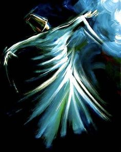 """Every step I take is a blessing. Arabic Calligraphy Art, Arabic Art, Learn Calligraphy, Calligraphy Alphabet, Kahlil Gibran, Whirling Dervish, Dance Paintings, Turkish Art, Tile Art"