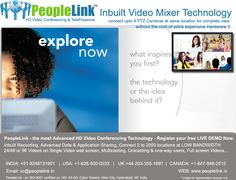 PeopleLink provides Inbuilt Video Mixer option to allow 4 PTZ cameras to be connected to a single location allowing maximum coverage of the location without the need of expensive additional Hardware. This reiterates PeopleLink's stand as the most advanced Video Conferencing Technology available in the industry today. Call Now: +91-9248131901 Visit us at  www.peoplelink.in for more details.