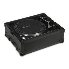 UDG Ultimate Flight Case Multi Format Turntable Black Plus (Trolley & Wheels)   Ultimate DJ Gear   UDG Gear