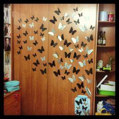 My room #diy #butterflies