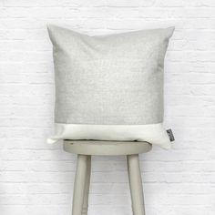 Grey & White Cushion, Stripe Linen Cotton Mix by REWHomeware on Etsy https://www.etsy.com/uk/listing/242950122/grey-white-cushion-stripe-linen-cotton