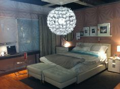 I really like how spacious it is. i like the piece of furniture along the wall