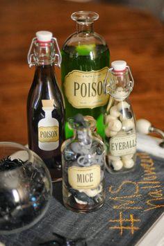 Creepy Poison Bottles tutorial