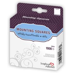 Mounting Squares - 1000 White, Initially Repositionable - Scrapbook Adhesives by 3L