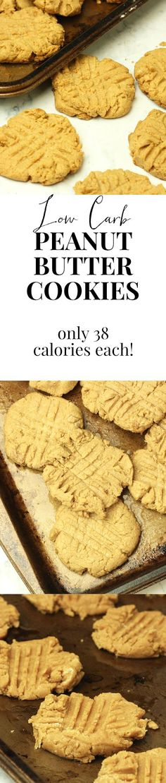36 CALORIE PEANUT BUTTER COOKIES. And they're so rich. Gave these to friends and they begged for the recipe. So here it is!