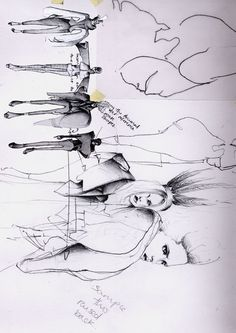 Fashion Sketchbook drawings by Kathryn Mcgee