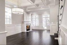 Living room photographed for AK Custom Homes, Builder