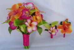 Hibiscus, Plumeria Bouquet