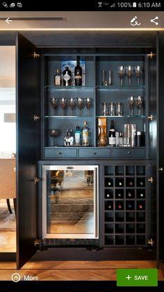 Weinlagerung Mini Bar Ideen - t's recently been another wine-filled yr Home Bar Counter, Bar Counter Design, Home Bar Cabinet, Bar Cabinets For Home, Built In Bar Cabinet, Drinks Cabinet, Wine Cabinets, Modern Bar Cabinet, Armoire Bar