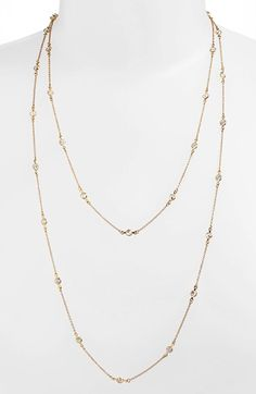 Alainn Extra Long Bezel Station Necklace (Nordstrom Exclusive) available at #Nordstrom