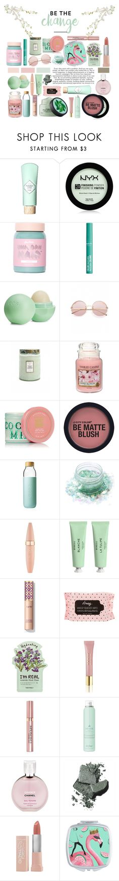 """Mint"" by marilightwood ❤ liked on Polyvore featuring beauty, Benefit, NYX, Lime Crime, Eos, Voluspa, Yankee Candle, Soma, Lunautics and Maybelline"
