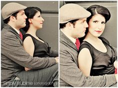 great vintage engagement photo shoot