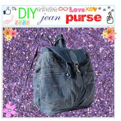 DIY jean purse by bff-tips on Polyvore
