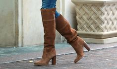 Michael Kors brown suede over the knee Regina boots | Want these for autumn/winter