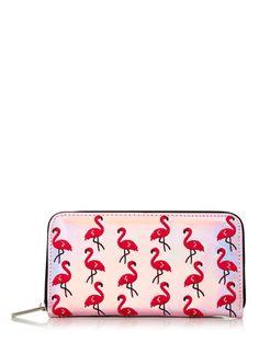**Flamingo Zip Purse by Skinnydip - New In- Topshop Europe Flamingo Purse, Flamingo Gifts, Flamingo Print, Pink Flamingos, Honeymoon Essentials, Skinnydip London, Topshop, Quirky Fashion, Backpack Purse