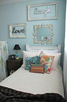 Farbgestaltung fürs Jugendzimmer – 100 Deko- und Einrichtungsideen - mädchen Farbgestaltung Jugendzimmer  rahmen vintage