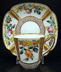 Antique Spode Copeland Demitasse Cup & Saucer