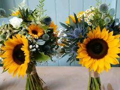 Wild, natural and colourful Highland flowers Sunflower Wedding Centerpieces, Sunflower Arrangements, Sunflower Bouquets, Sunflower Flower, Sunflower Wedding Bouquets, Fall Sunflower Weddings, Orchid Bridal Bouquets, Sunflower Decorations, Wedding Sunflowers