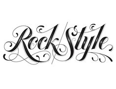 We Love Typography: rock style by jessica hische Tattoo Font For Men, Tattoo Lettering Styles, Tattoo Script, Tattoo Fonts, Lettering Design, Tattoo Quotes, Karma Tattoo, Lettering Ideas, Tattoo Arm