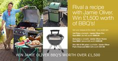 Win 3 BBQs worth over in our Jamie Oliver Competition Gas Bbq, Jamie Oliver, Cocktail Recipes, Barbecue, Grilling, Competition, Cooking, Summer, Kitchen