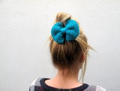 Knitted Purl Bow // Teal Hair Bow // Ready to by hellobettybow Teal Hair, How To Purl Knit, Hair Bows, Fashion, Ribbon Hair Ties, Moda, Blue Green Hair, Fashion Styles, Fasion