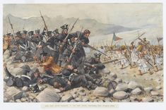 'Last stand of the 44th East Essex Regiment at Gandamuk, 12th January 1842' by R.Simkin