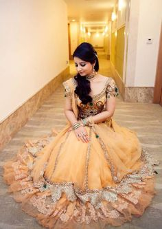 She looks like an exotic version of Belle. Pakistani Bridal, Indian Bridal, Indian Dresses, Indian Outfits, Indian Clothes, Ethnic Fashion, Asian Fashion, Women's Fashion, Bridal Makeover