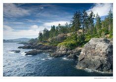 Coast south of Sooke, Vancouver Island, British Columbia, Canada