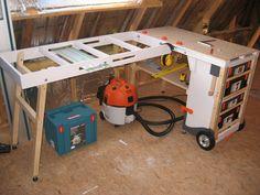 Portable Workstation, Portable Workbench, Folding Workbench, Tool Cart, Carpenter Work, Diy Workshop, Shop Organization, Workbenches, Interior Photography
