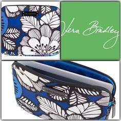 "Vera Bradley Neoprene Tablet Sleeve Blue Bayou NWT Crafted in protective neoprene, this tablet sleeve is a perfect fit for most tablets, including the iPad. It features an oversized design from Vera Bradley's pretty prints plus a bright pop of color inside from tech-friendly logo lining. 10"" x 8"" NWT  Details  Sleek exterior features an oversized Signature print Logo lining Zip-top opening with logo zipper pull Logo plaque Care Tips  Machine wash cold, gentle cycle, only non-chlorine bleach…"