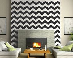 Chevron Wall Decals - Chevron Bedroom Wall Decal - DIY Chevron Wall Stickers - Premium Chevron Wall Decals in Multiple Sizes - Chevron Art