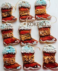 Galletas Navidad 2014 - Botas de Papá Noel Christmas Cookies 2014 - Santa Claus Boots http://www.sweetkokeko.com