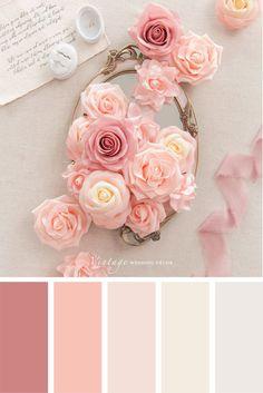 Peach Color Palettes, Blush Color Palette, Color Schemes Colour Palettes, Coral Color Schemes, Spring Color Palette, Peach Palette, Color Combinations, Palette Pantone, Peach Flowers