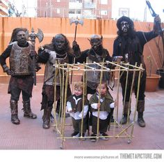 It's Carnival in Spain and all the schools have family costume parties…