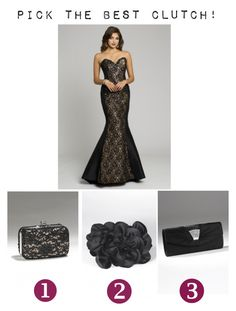 """""""Choose your clutch bag!"""" by camillelavie ❤ liked on Polyvore featuring women's clothing, women, female, woman, misses, juniors, homecoming, prom, camille la vie and black heels"""