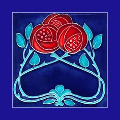 98 Art Nouveau tile. Buy as an e-card with a personalised greeting!