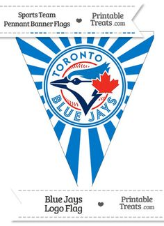 Toronto Blue Jays Pennant Banner Flag from PrintableTreats.com